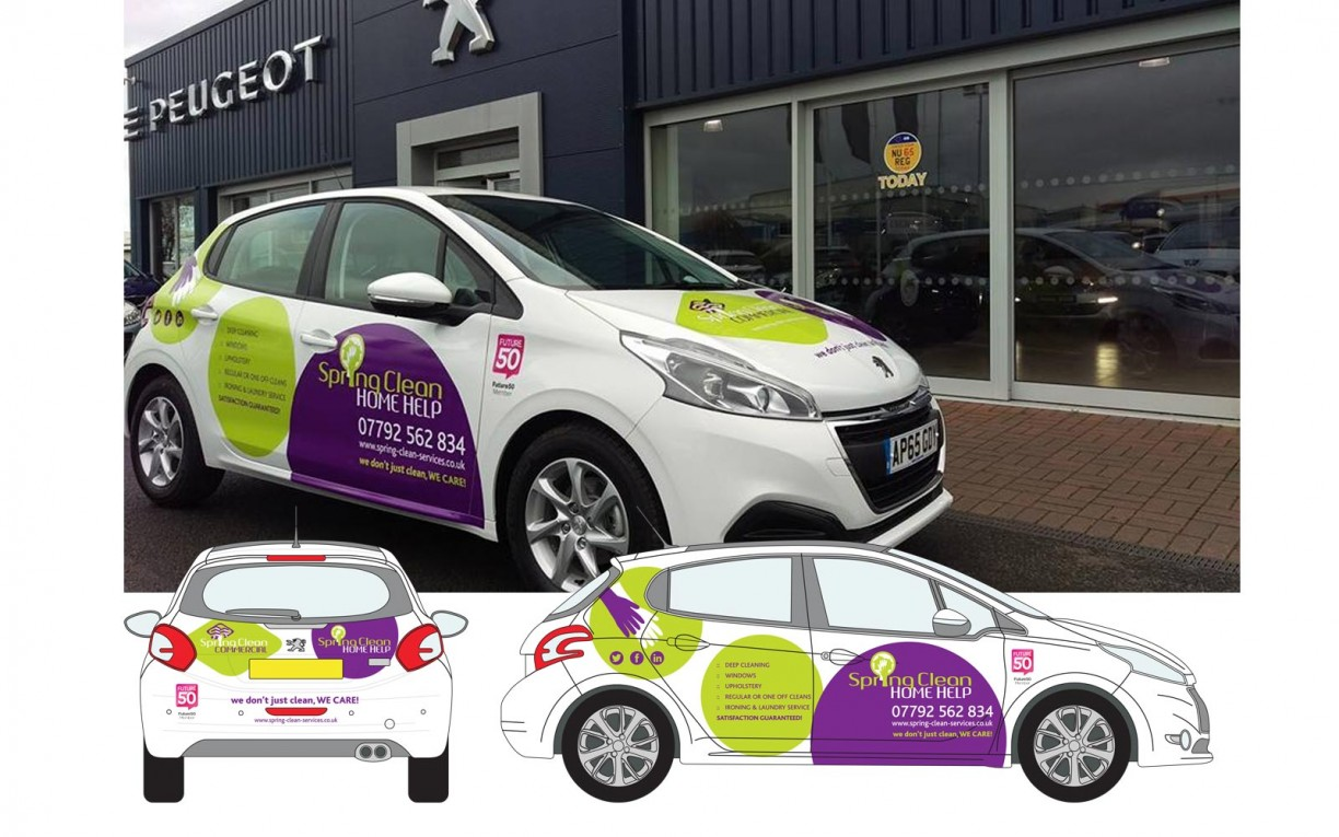 Spring Clean vehicle livery design by Norfolk based creative design agency Mashuni